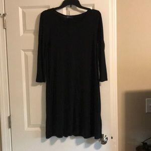 GAP black dress 3/4 sleeve